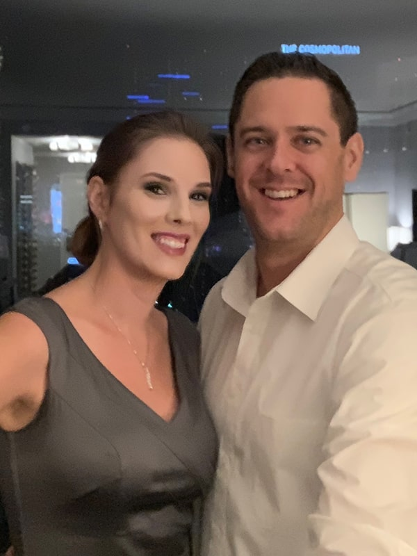 Egnite Design CEO and Founder with his Wife in Las Vegas