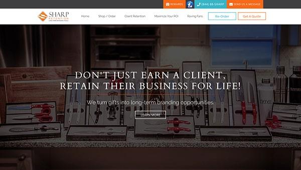 Sharp Retention Website Screenshot